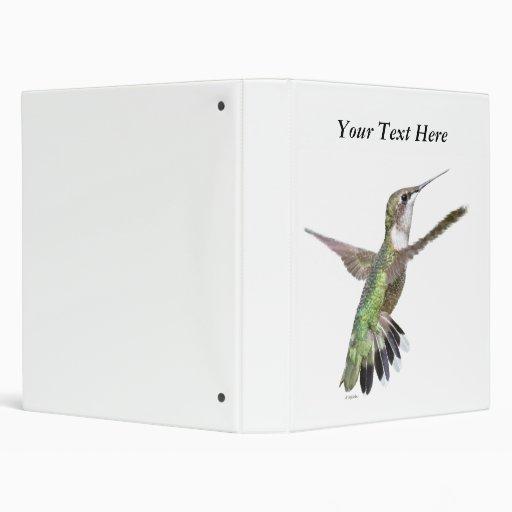 Berylline Hummingbird Painting Vinyl Binders