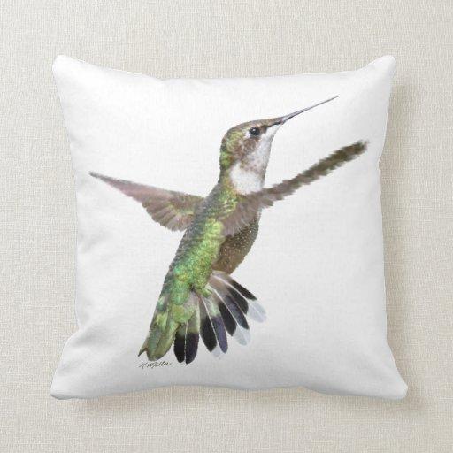 Berylline hummingbird pillow