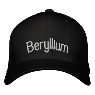 Beryllium Embroidered Hat