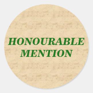 BES Honourable Mention Sticker - uppercase