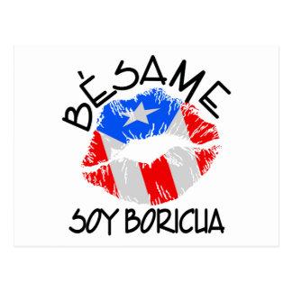 Besame Soy Boricua Kiss Me I'm Puerto Rican Postcard