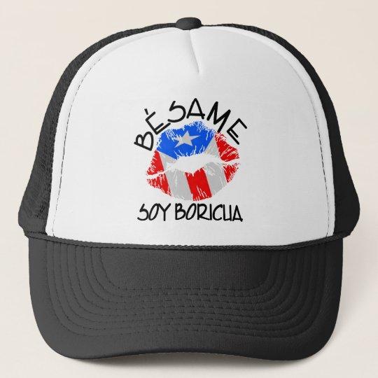 Besame Soy Boricua Kiss Me I'm Puerto Rican Trucker Hat