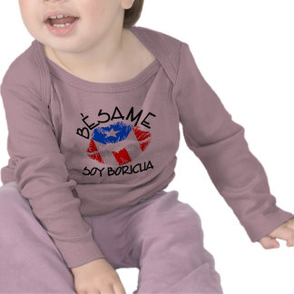 Besame Soy Boricua Kiss Me I'm Puerto Rican Tee Shirts
