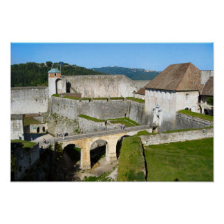 Besançon, citadel ramparts print
