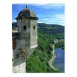 Besançon, ciudadela y el río tarjeta postal