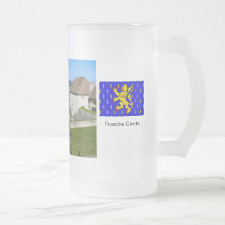 Besançon, Fortress ramparts Frosted Glass Beer Mug