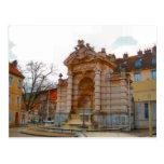 Besançon, fuente antigua tarjetas postales