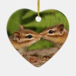 """Besando Chipmunks ornamento de """"nuestro primer nav Ornamentos Para Reyes Magos"""