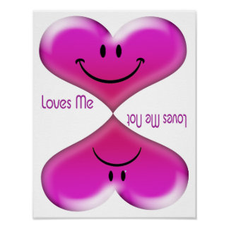 Besando corazones me ama, me ama no póster