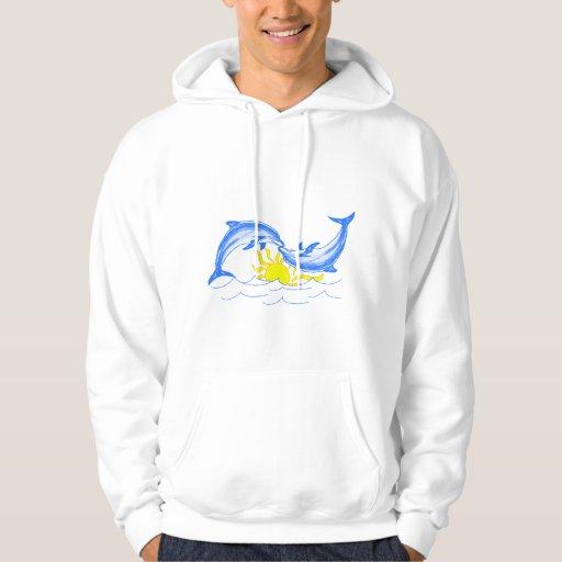 Besando los delfínes (los amantes) sudadera con capucha