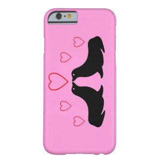 Besando los leones marinos - caso del iPhone 6 Funda De iPhone 6 Barely There
