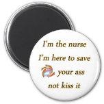 besar a la enfermera imán redondo 5 cm