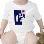 Besar al patriota trajes de bebé