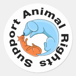 Besar al pegatina de los derechos de los animales