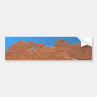 Besar camellos sobre la roca blanca pegatina para auto