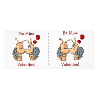 Besar caracoles de la tarjeta del día de San Valen Tarjeta Publicitaria