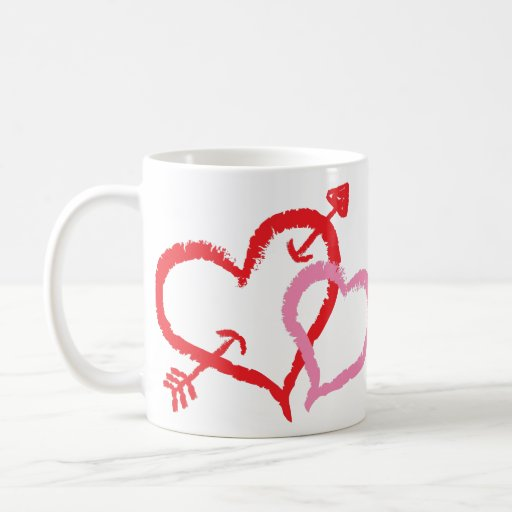 Besar corazones taza de café