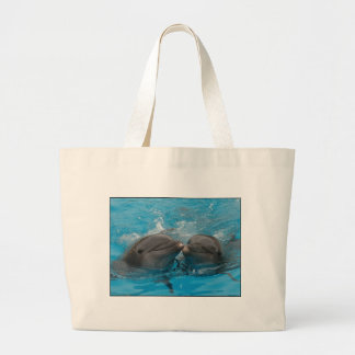 Besar delfínes bolsa tela grande