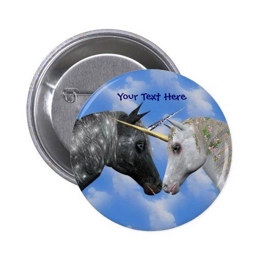 Besar el botón de la fantasía de los unicornios pin redondo de 2 pulgadas