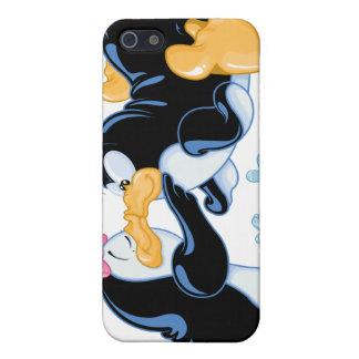 Besar el caso del iPhone 4 de los pingüinos iPhone 5 Protectores