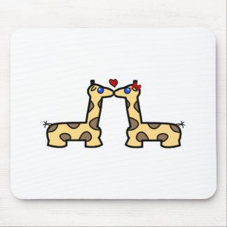 Besar el cojín de ratón de las jirafas mouse pads