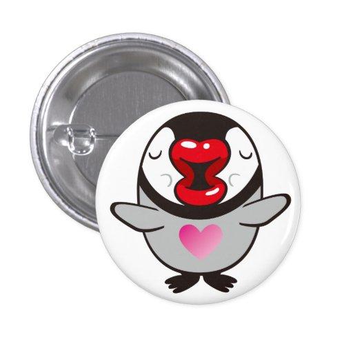 besar el pingüino pin redondo de 1 pulgada