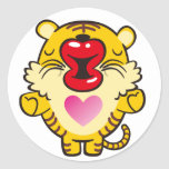 besar el tigre pegatina redonda