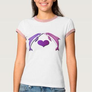 Besar la camisa de las señoras de los delfínes