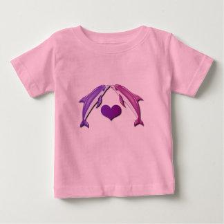 Besar la camiseta del bebé de los delfínes playeras