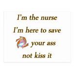 besar la copia de la enfermera tarjeta postal