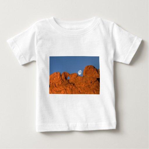 Besar la formación de roca de los camellos con la playera
