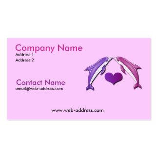 Besar la tarjeta de visita de los delfínes