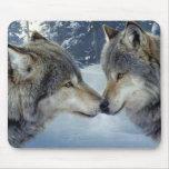 Besar lobos alfombrillas de ratones