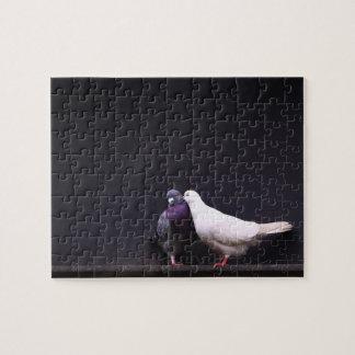 Besar pájaros del amor rompecabeza con fotos