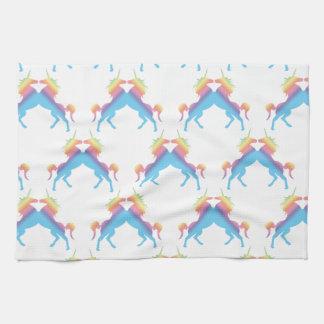 Besar unicornios toallas de mano