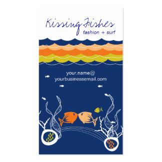 Besar verano del azul del mar del océano de las tarjetas de visita