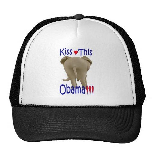 ¡Bese a este Obama!!! Gorras De Camionero