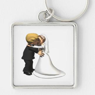 Bese a la novia 2 llavero personalizado