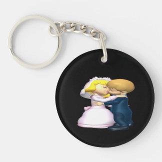 Bese a la novia llaveros
