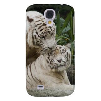 Bese a los amantes blancos de los tigres de la paz funda samsung s4