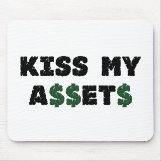 Bese a mi inversor divertido Mousepad de los