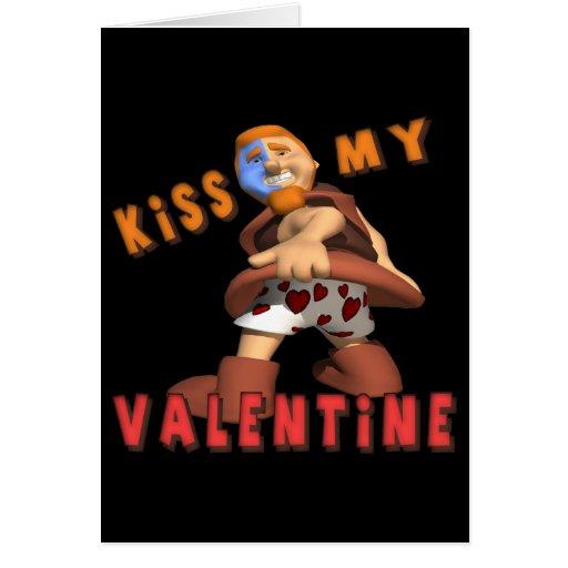 Bese a mi tarjeta del día de San Valentín