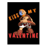 Bese a mi tarjeta del día de San Valentín Postal