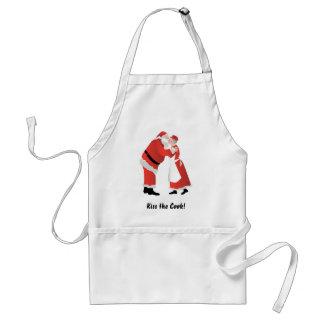 ¡Bese al cocinero! Delantal de Papá Noel