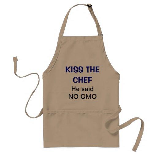Bese al cocinero - él no dijo ningún GMO Delantal