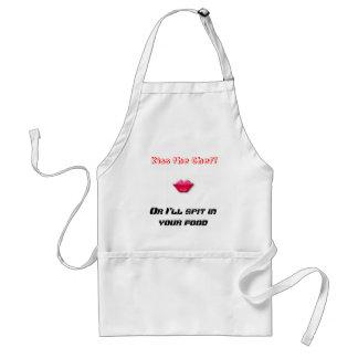 ¡Bese al cocinero! , O escupiré en usted la comida Delantal