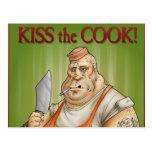 Bese al cocinero postales