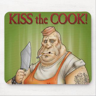 Bese al cocinero alfombrillas de ratones