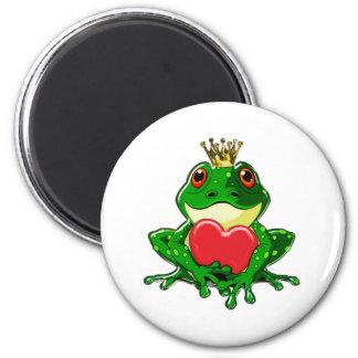 Bese al príncipe de la rana imán redondo 5 cm