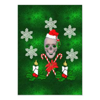 Bese el cráneo de Santa Invitación 12,7 X 17,8 Cm